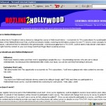 Hotline2Hollywood Landing Page